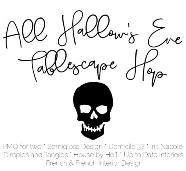 all hallow's eve tablescape hop