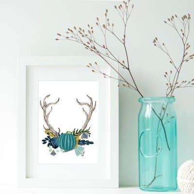 Autumn Antlers Printable
