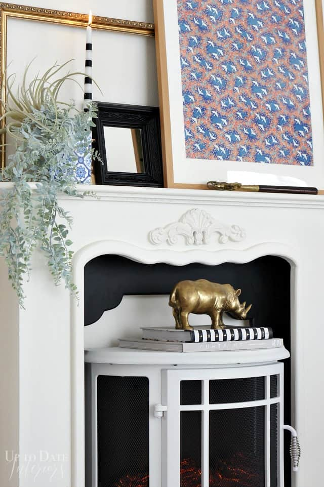 Fireplace styling with books