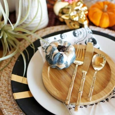 An Eclectic and Elegant Halloween Tablescape