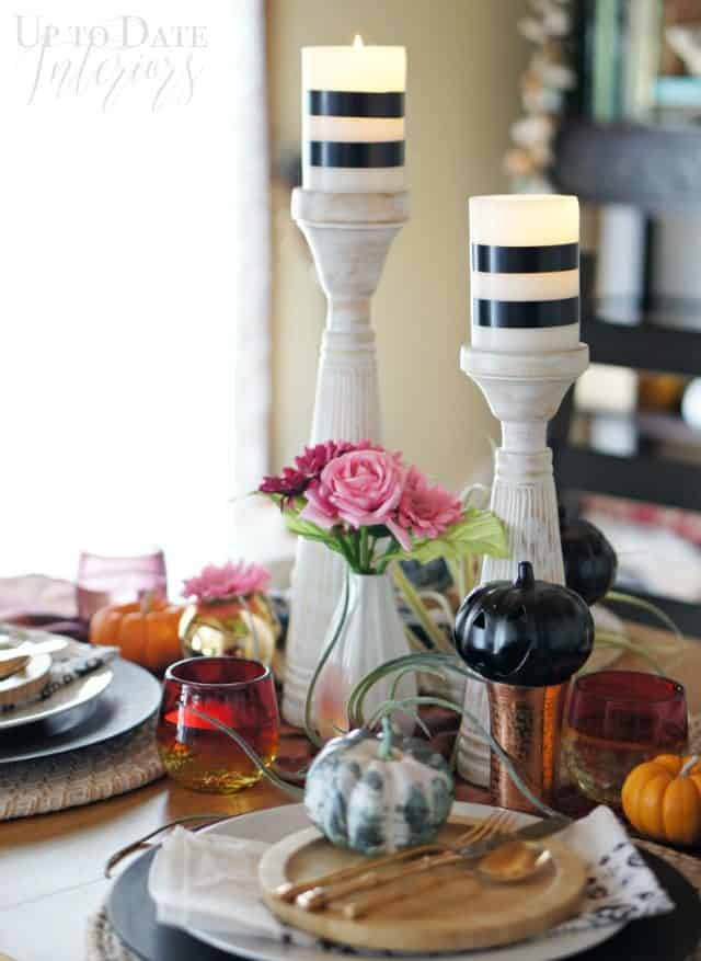 classy halloween table that's easy