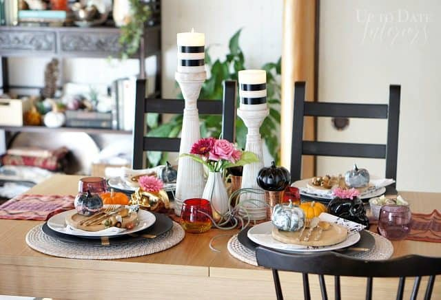 chic and eclectic halloween tablescape