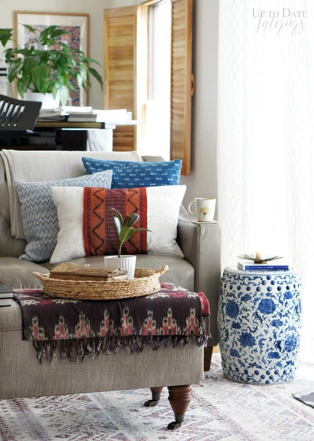cozy and eclectic living room