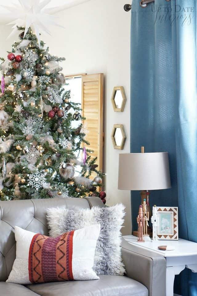 Global eclectic Christmas home tour decor and DIYs