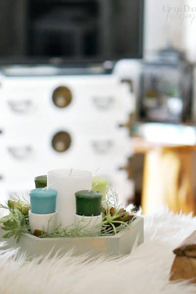 Create an easy DIY advent wreath in minutes!