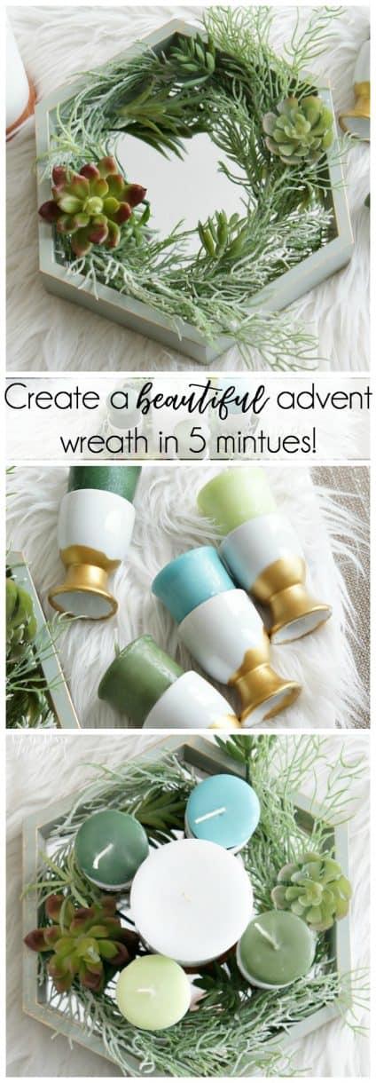 DIY modern advent wreath