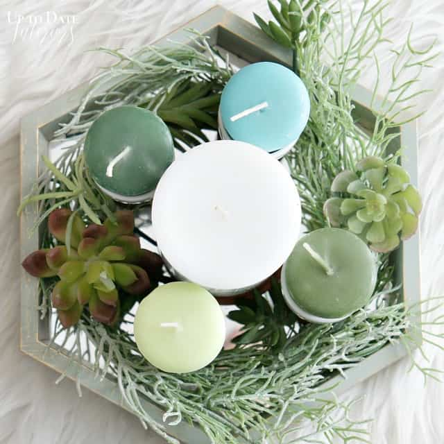 A pretty and modern DIY advent wreath