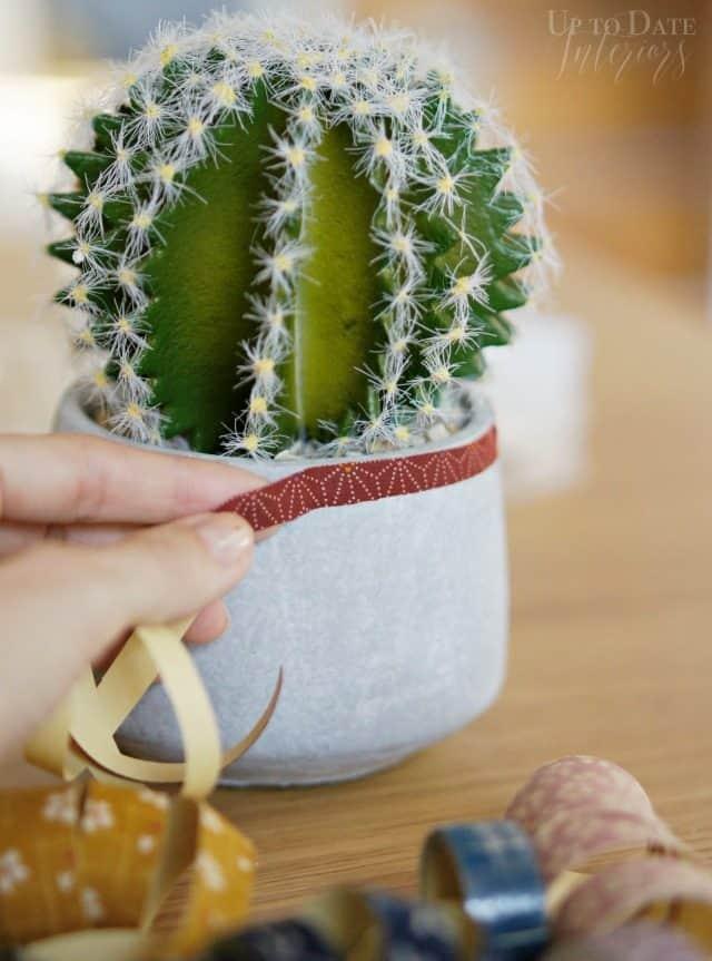 concrete-planter-wrapping-ribbon