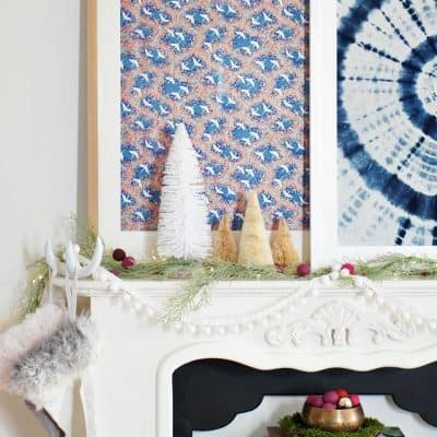 How to create an elegant and global Christmas mantel for less!