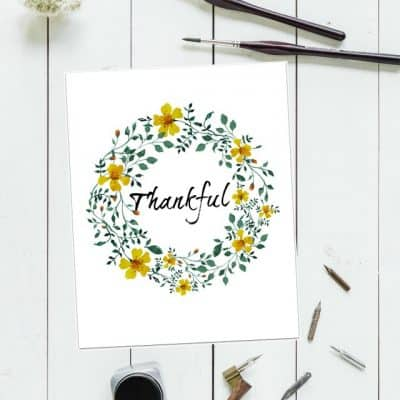 free thankful printable for thanksgiving, just print and frame!