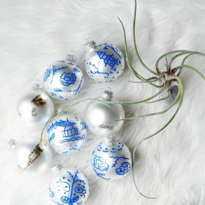 Add global interest with easy DIY Chinoiserie Ornaments