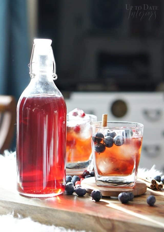 make your own signature christmas cocktail with infused spirits