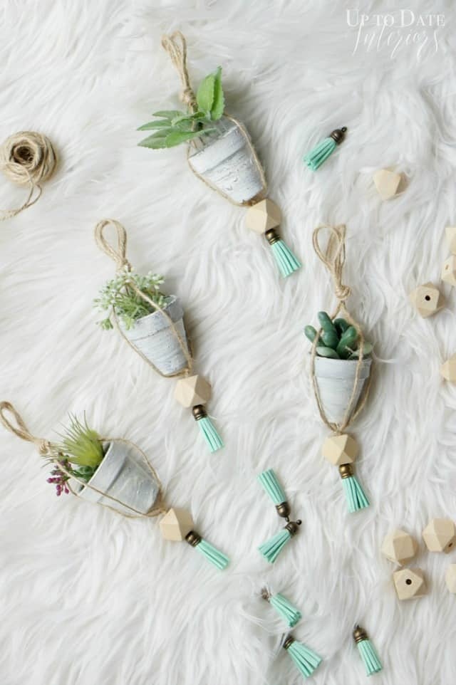 Nordic inspired DIY mini plant Christmas Ornaments