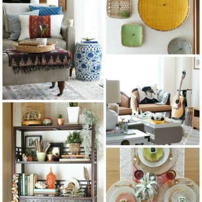 Eclectic Global Renter Friendly Decorating Ideas