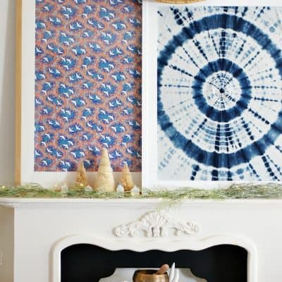 winter-decorating-mantel-with-village