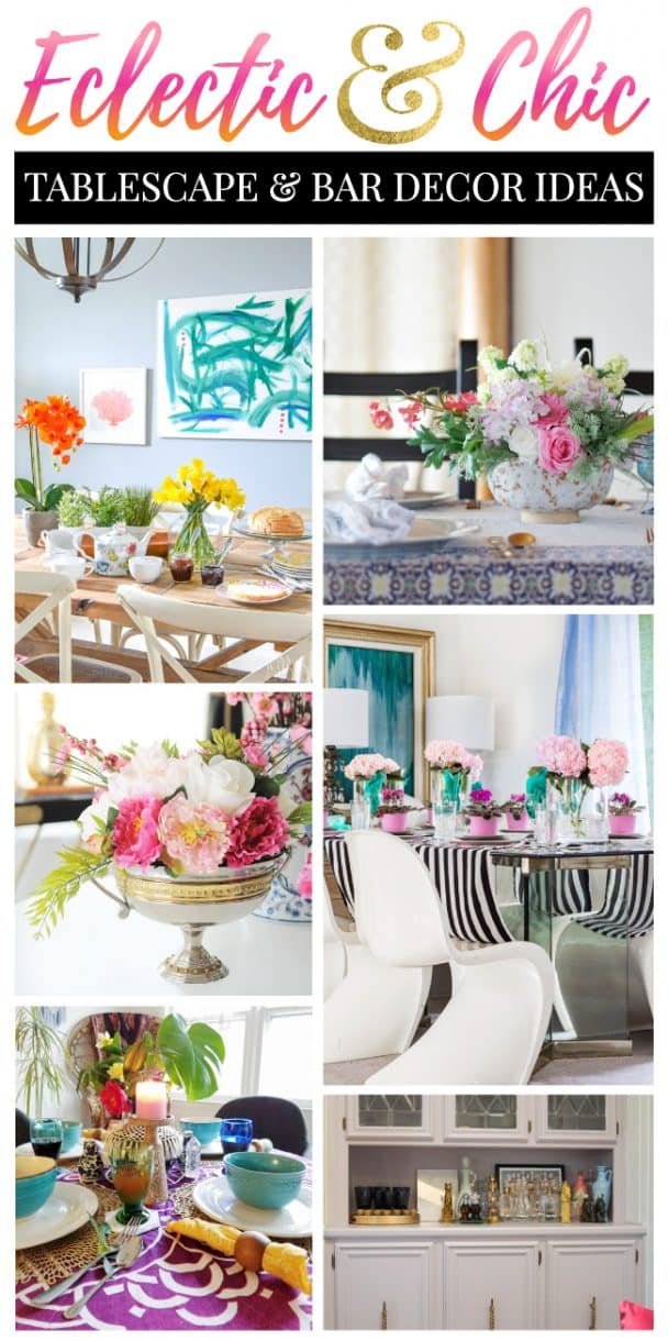 Colorful Tablescape Bar Decor Ideas