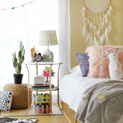 Global Bohemian Bedroom Makeover for a Girl