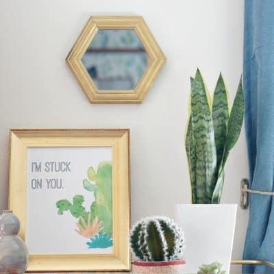 im-stuck-on-you-cactus-art free art print and greeting card