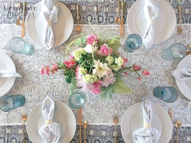 Spring Table Diy Floral Centerpiece