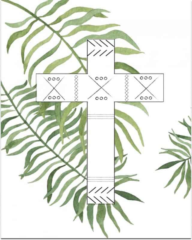 8x10 Palm Branches Cross 640