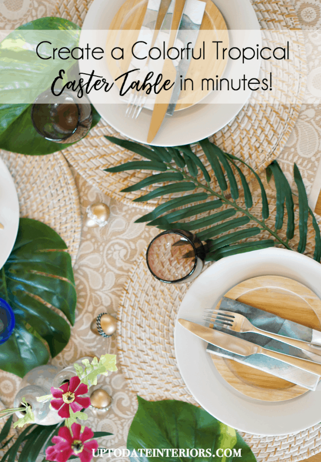 Colorful Tropical Easter Table Pinterest