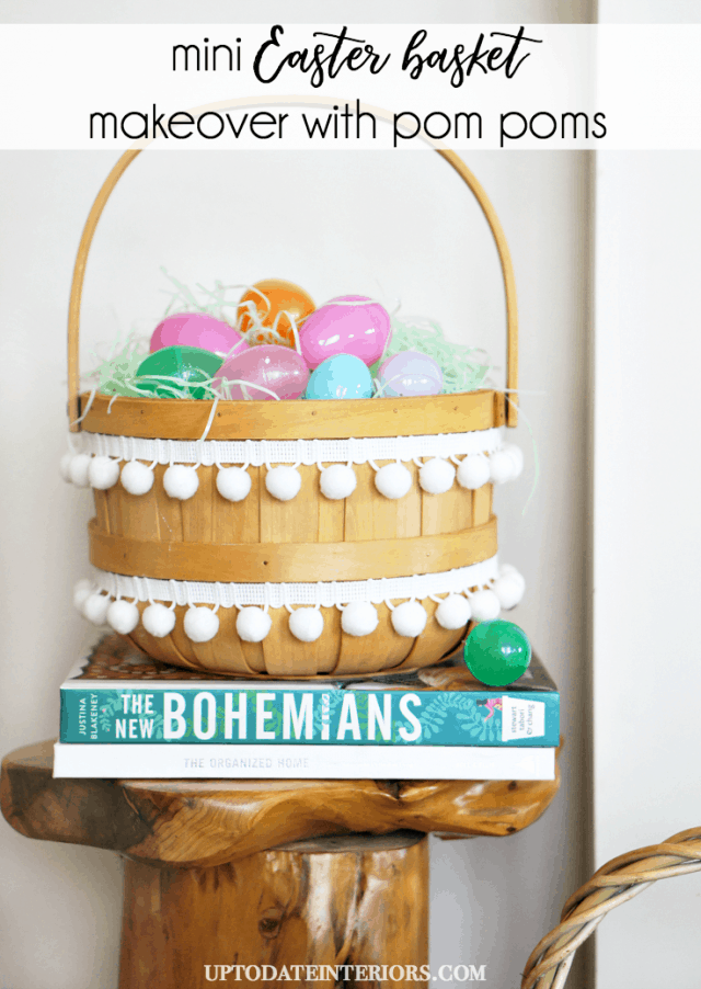 Easter Basket With Pom Poms Pinterest