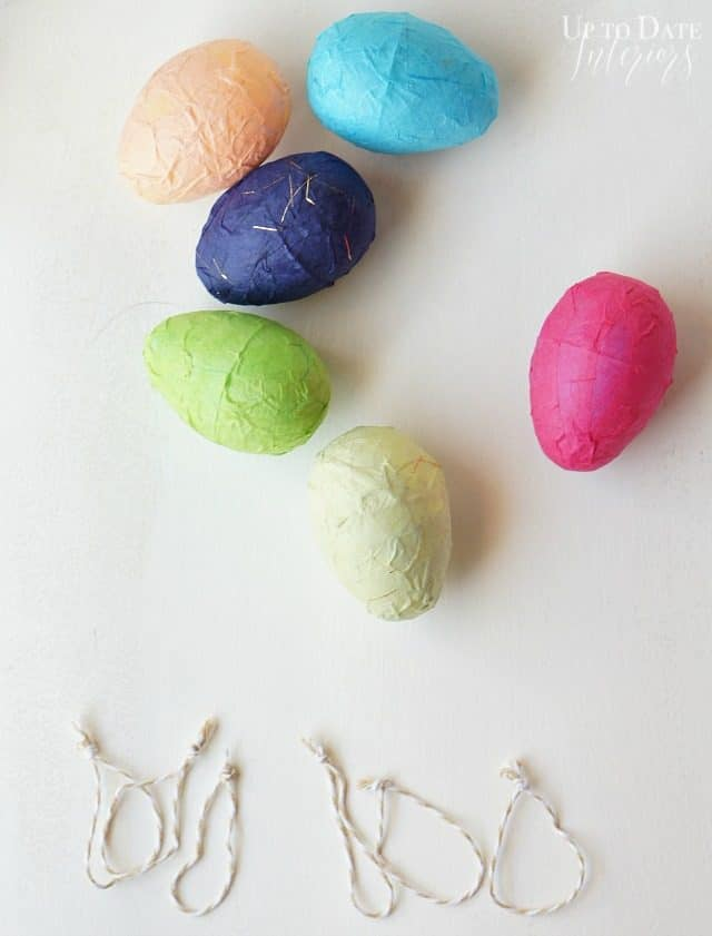 Washi Easter eggs with dollar store supplies