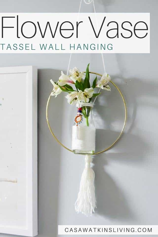 Flower Vase Tassel Wall Hanging