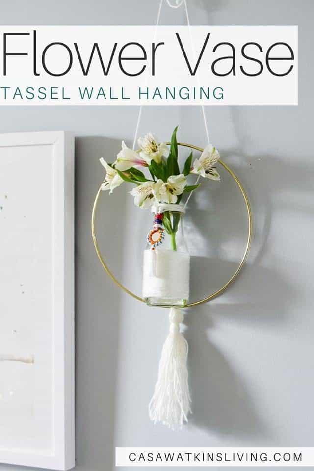 Flower Vase Tassel Wall Hanging