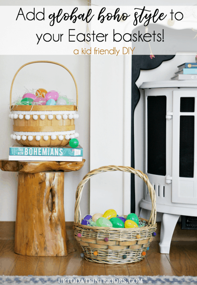 Global Boho Easter Baskets.