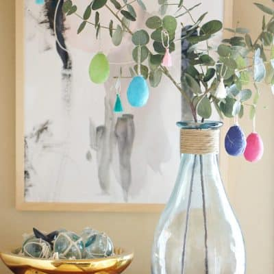 DIY Easter Tree with Tassels and Washi Eggs