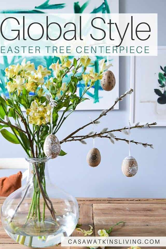 Global Style Easter Tree Centerpiece