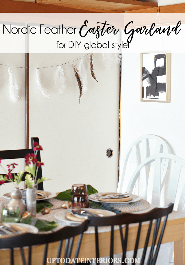 Nordic Feather Easter Garland Pinterest  Feather Garland DIY
