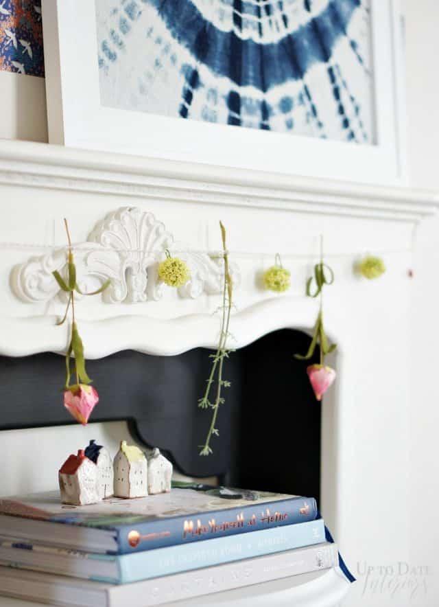 Spring garland for mantel
