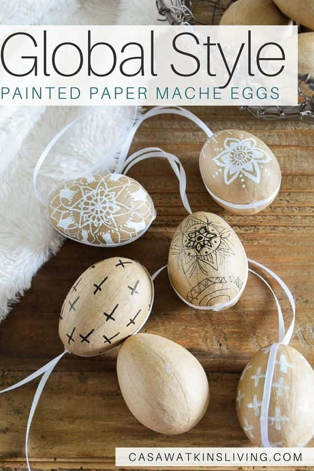 Painted Paper Mache Eggs