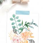 Printable Watercolor Pinterest Blue