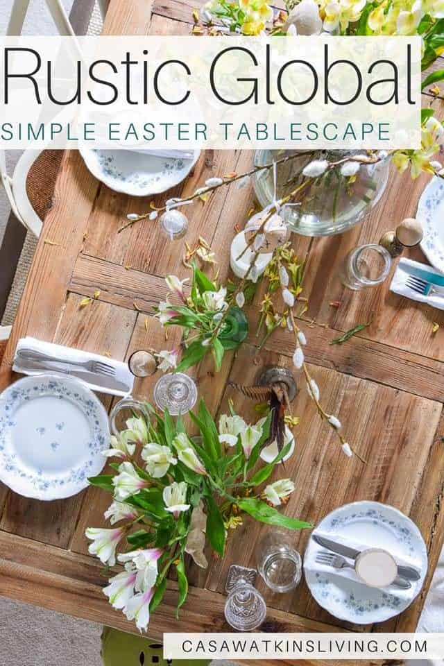 Rustic Global Simple Easter Tablescape