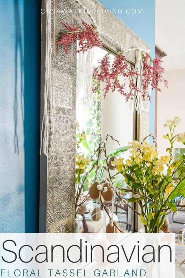 Scandi Floral Tassel Garland
