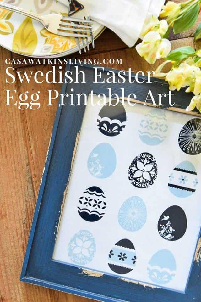 Swedish Easter Egg Printable Art