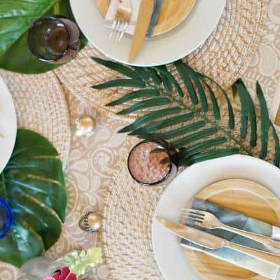 Set a Colorful Tropical Easter Table in Minutes!