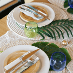 Tropical Tablescape Close Up Pinterest Green