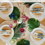 Tropical Tablescape Pinterest Green