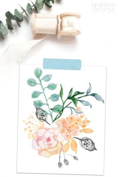 Watercolor Free Printable Styled Watermark