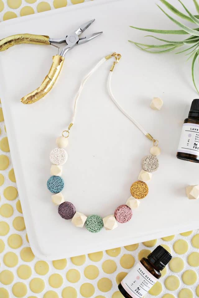 Lava Stone Necklace Diy For Essential Oils Click Through For Tutorial 2