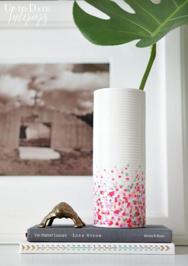 confetti-vase-tall-dollar-store-Mother's-Day-gift Idea