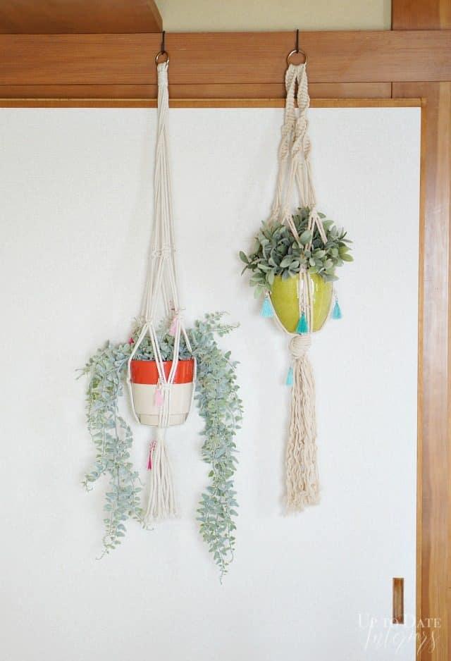 Anthro Inspired Macrame Tassle Plant Holders