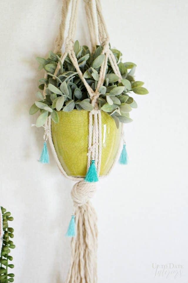 Anthro Inspired Tassel Macrame Plant Hanger