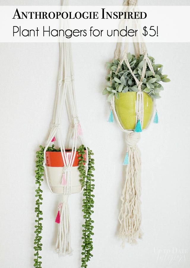 Anthropologie Knock Off Plant Hangers Pinterest