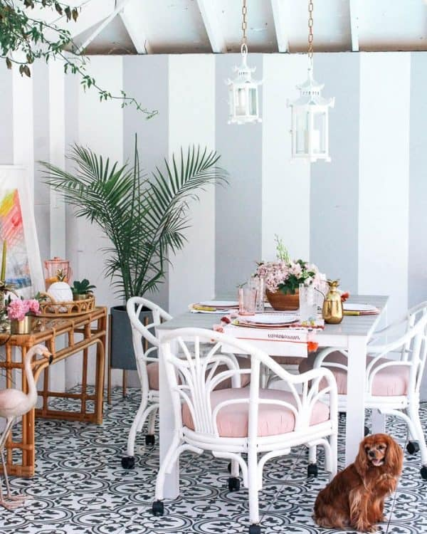 Palm Beach Chic Patio Reveal 54