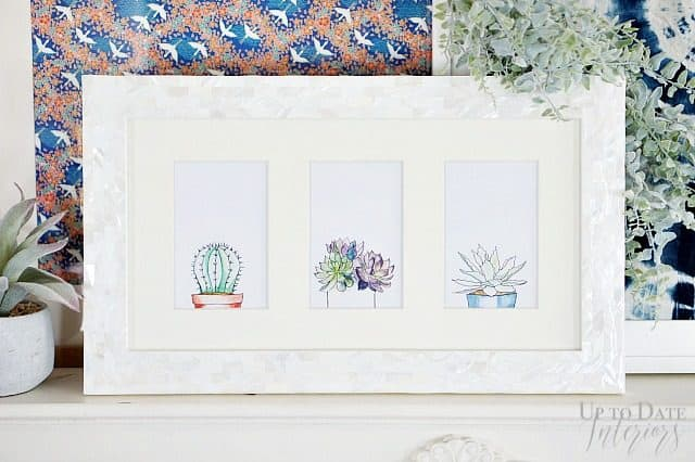 Watercolor Succulent Peek A Boo Art